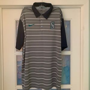 Men's Nike Seattle Mariners Golf Polo Worn Once L